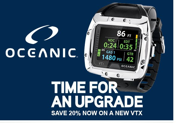 Oceanic VTX OCi with 20 procent discount on Eurodiveshop for Diving and Technodiving