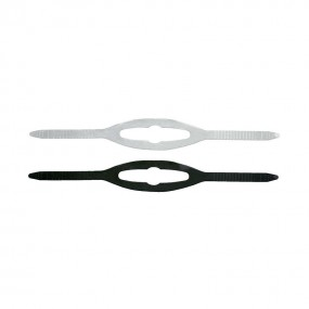 Mask Strap Silicone Clear Black