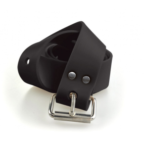 MARSEILLAISE black silicone belt with s.s. buckle