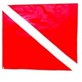 Spare red flag for boat 40x33cm (Fox)