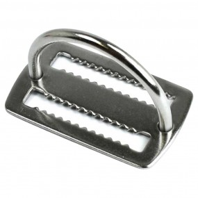Stainless weight belt keeper with D-ring