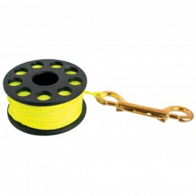 REEL WITH DOUBLE CLIP AND YELLOW LINE