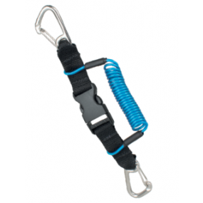 SS CLIP WITH HOOK 1,8M DOUBLE METAL CARABINER