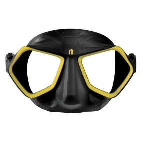 Wolf mask black/yellow