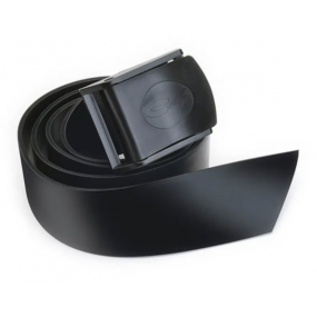 Black silicone belt with nylon buckle