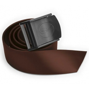 Brown silicone belt with nylon buckle