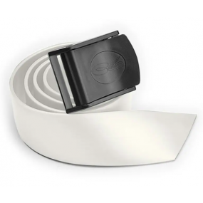White silicone belt with nylon buckle