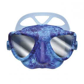 PLASMA mask ocean camo blu mirrored lenses