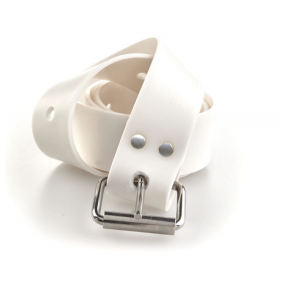 MARSEILLAISE white silicone belt with s.s. buckle