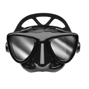PLASMA mask black silver mirrored lenses