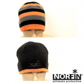 REVERSIBLE WINTER HAT NORFIN DISCOVERY GRAY