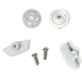400 fixing kit for a pair white