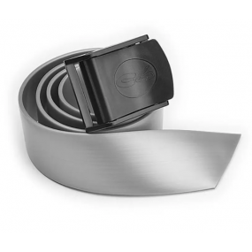 Silver silicone belt with nylon buckle